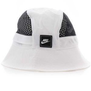 Nike NSW Sportswear Bucket Hat Mesh Cap White Blk